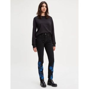 LEVI'S Made & Crafted Embroidered 501 Skinny Jeans